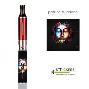 stickers Bouddha noir Murciano